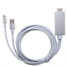 LIGHTNING TO HDMI CABLE ADAPTER HDTV CABLE FOR IPHONE/IPAD/AIR/MINI/PRO/IPOD TOUCH