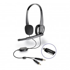 PLANTRONICS HEADPHONE WITH MICROPHONE AND USB CONNECTOR