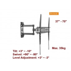 """BRATECK 37"""" - 70"""" FULL MOTION WALL MOUNT"""