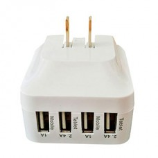 4 PORT USB WALL PLUG
