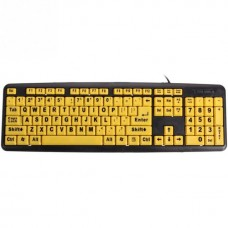 Yellow Keys Black Letter ABS Professional Large Print