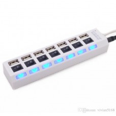 7 PORT USB HUB WITH LED LIGHTS AND POWER